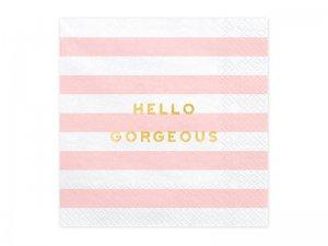 """Papírové ubrousky """"Hello georgeous"""" 20ks"""