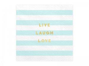 """Papírové ubrousky """"Live Laugh Love"""" 20ks"""