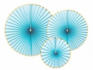 Dekorační rozety světle modré