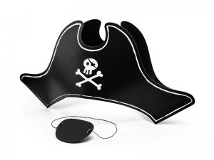 Sada Pirátská čepice s páskou přes oko