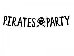 """Závěsný baner """"Pirátská party"""" černý"""