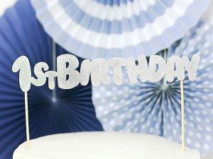 """Dortová ozdoba """"1st birthday"""" stříbrná - big_KPT33-018B_05_S.jpg"""