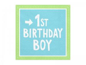 """Papírové ubrousky """"1. narozeniny kluk"""" 20ks"""