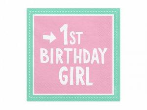"""Papírové ubrousky """"1. narozeniny holka"""" 20ks"""