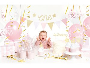 """Dekorační set na party """"1. narozeniny"""" růžovozlaté - big_SET6-019_01_S.jpg"""