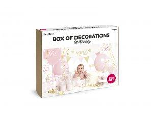 """Dekorační set na party """"1. narozeniny"""" růžovozlaté - big_SET6-019_03_S.jpg"""