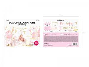 """Dekorační set na party """"1. narozeniny"""" růžovozlaté - big_SET6-019_op_01_S.jpg"""