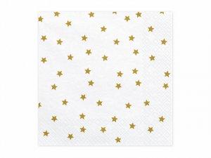 """Papírové ubrousky """"Zlaté hvězdy"""" 20ks"""