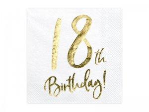 """Papírové ubrousky """"18th Birthday"""" 20ks"""