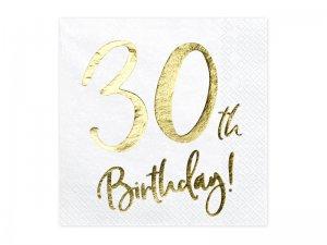 """Papírové ubrousky """"30th Birthday"""" 20ks"""