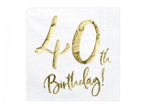 """Papírové ubrousky """"40th Birthday"""" 20ks"""
