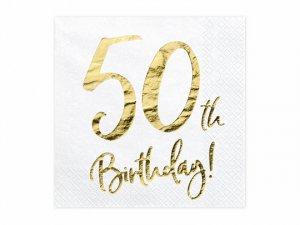 """Papírové ubrousky """"50th Birthday"""" 20ks"""