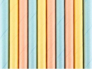 Papírová brčka - Letní barvy 10ks