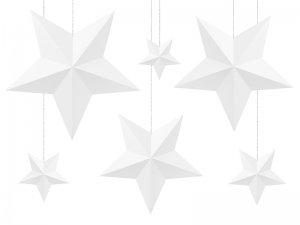 Dekorační hvězdy bílé 6ks