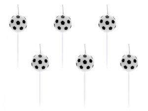 """Svíčky """"Fotbalové míče"""" 6ks"""