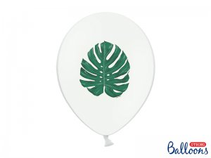 "Balónek pastel 30cm potisk ""Aloha - listy"", 6ks"