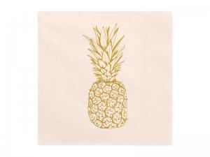 """Papírové ubrousky """"Aloha - zlatý ananas"""" 20ks"""