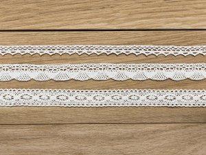 Bavlněná dekorativní krajka bílá 3ks