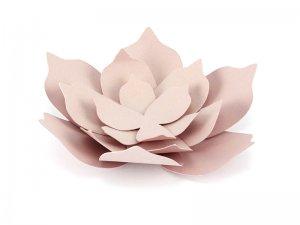 Papírové dekorační květiny, pudrově růžové 3ks
