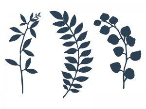 Dekorační větvičky tmavě modré 9ks