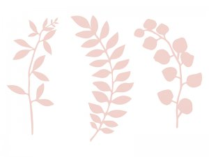 Dekorační větvičky pudrově růžové 9ks