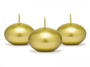 Plovoucí svíčky metalické zlaté 50ks