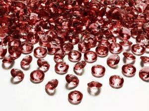 Diamantové korálky - rudé 100ks
