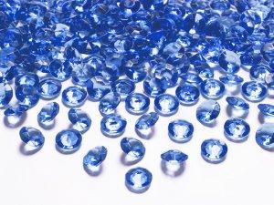 Diamantové korálky - tmavě modré 100ks