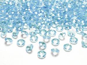 Diamantové korálky - světle modré 100ks