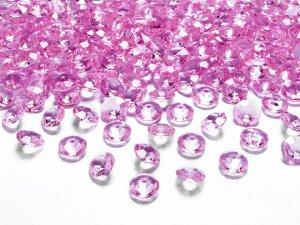 Diamantové korálky - světle růžové 100ks