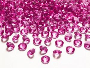 Diamantové korálky - tmavě růžové 100ks
