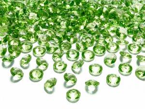 Diamantové korálky - zelené 100ks