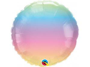 """18""""  fóliový balónek kruh - Pastelový přeliv 46cm F"""