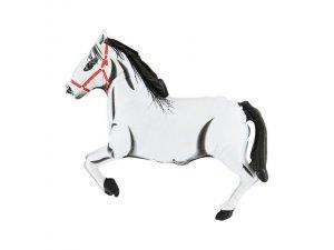 """MINI 14"""" Dostihový kůň - bílý"""