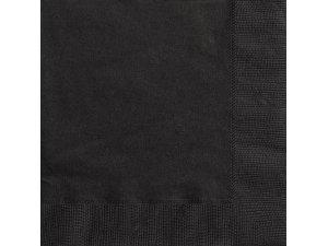 Papírové ubrousky černé dvouvrstvé, 20ks