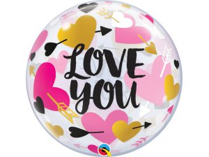 "22"" bublina - Láska, srdce a šípy"