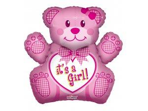 Balónek 71cm - Medvídek Je to holka!