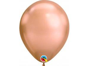 "Balónek Qualatex CHROME 11"" ROSE GOLD (100ks v balení)"