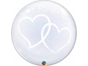 "24"" DECO bublina - Srdíčka navždy"