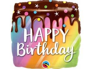 """18"""" fóliový balónek - Barevný dort s polevou HB"""