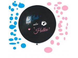 "Balónek 80cm potisk ""Je to Holka/Kluk"" + konfety"