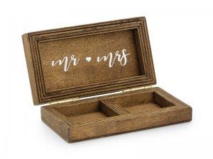 Krabička dřevěná na snubní prsteny 10x5,5cm