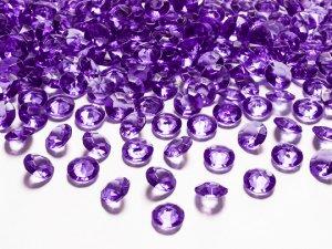 Diamantové korálky - fialové 100 ks
