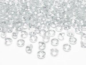 Diamantové korálky - průhledné 100ks