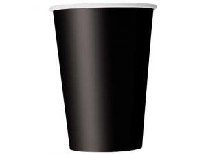 Kelímky papírové - černé, 10ks
