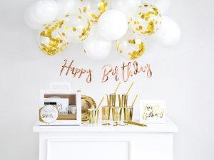 Dekorační set na narozeninovou párty - zlatý