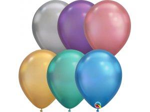 """Balónek Qualatex CHROME 11"""" mix barev"""