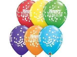 "11"" Balónek Qualatex - Duhové HB (25ks v balení)"