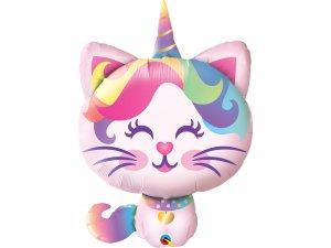 "34"" fóliový balónek - Kočka růžová"