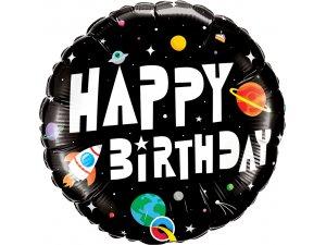 """18"""" foliový balónek kruh - Vesmírný motiv"""